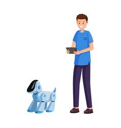 smart electronic pet flat vector image