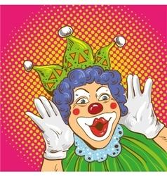 smiling clown cartoon character vector image