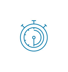 sports stopwatch linear icon concept sports vector image