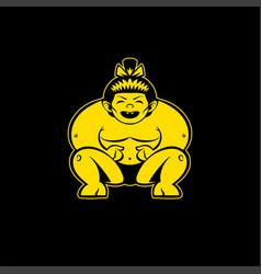 sumo logo vector image