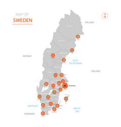 sweden map with administrative divisions vector image