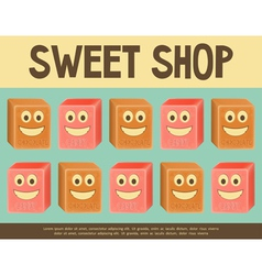 Sweet shop blue vector