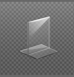 Table display or desktop holder template realistic vector