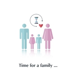 Time for a family vector image