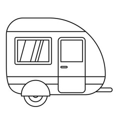 Travel trailer icon outline style vector