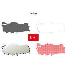 Turkey outline map set vector