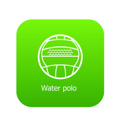 water polo icon green vector image
