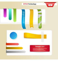 Web page Sticker Designs vector image