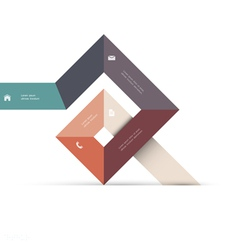 Abstract geometric shape for web design vector image