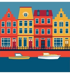 Amsterdam card vector image vector image