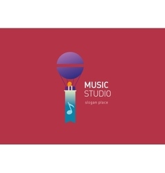 creative logo for the music studio vector image vector image