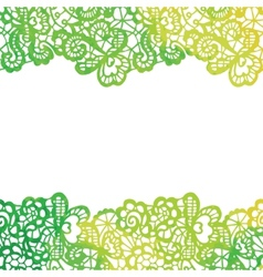 Lacy elegant border Invitation card vector image vector image