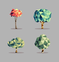 Triangle abstract tree set vector image