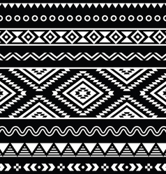 folk seamless aztec ornament pattern vector image vector image