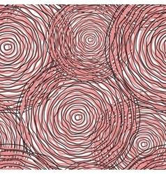 Pink circle abstract seamless pattern vector image vector image