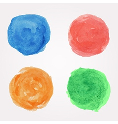 set of round watercolor design elements vector image