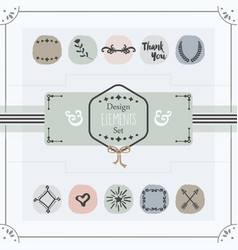 Pastel trendy colors emblems card design elements vector