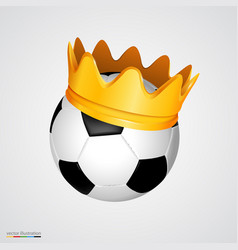 soccer ball with a golden crown vector image