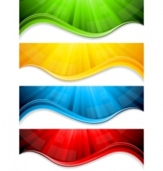 vector collection abstract banners vector image vector image