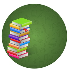 Book and circle icon background vector image