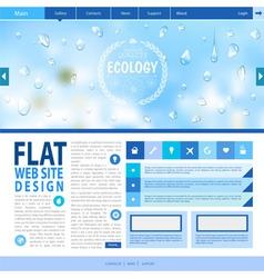 Flat web site design ecology background vector