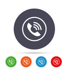 phone sign icon call support symbol vector image