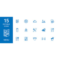 15 menu icons vector