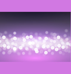 abstract bokeh lights on lilac vector image