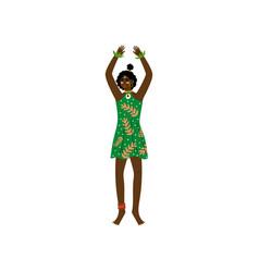 African woman aboriginal girl dressed in modern vector