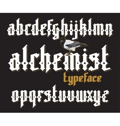 Alchemist gothic font vector