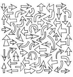arrows set hand drawn vector image