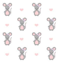 artoon mouse seamless pattern vector image