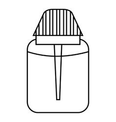 Big plastic jar icon outline style vector