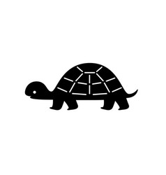 Black turtle silhouette vector