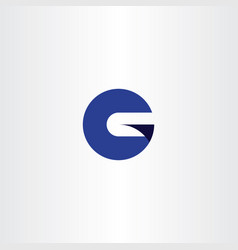 Blue g logo circle symbol logotype vector
