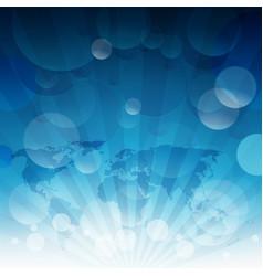 blue sky sun light burst blue sky background vector image
