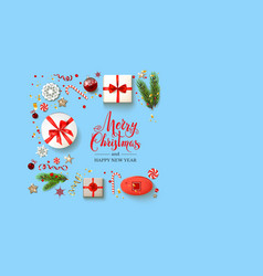 boxes blue holiday christmas vector image