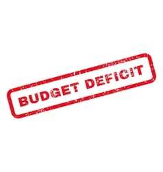 Budget Deficit Text Rubber Stamp vector