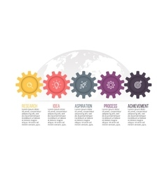 Business infographics timeline with 4 steps vector