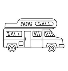 camping truck icon outline style vector image