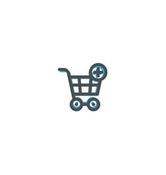 cart icon line design e commerce icon vector image