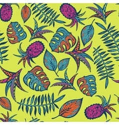 Cartoon tropical pattern vector image vector image