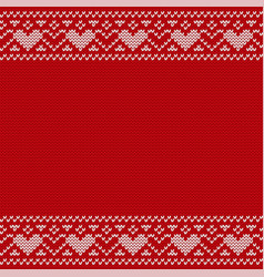 Christmas knitting seamless pattern vector
