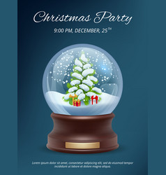 christmas poster transparent crystallizing magic vector image