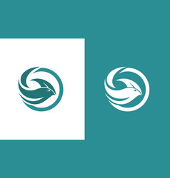 circle fish abstract logo vector image