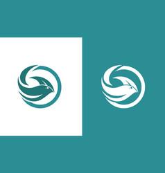 circle fish abstract logo vector image