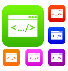 Code window set collection vector