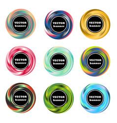 colorful gradient rosette banner set vector image