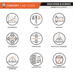 Concept Line Icons Social sciences vector