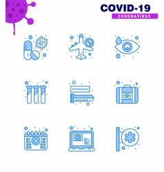 Coronavirus prevention set icons 9 blue icon vector